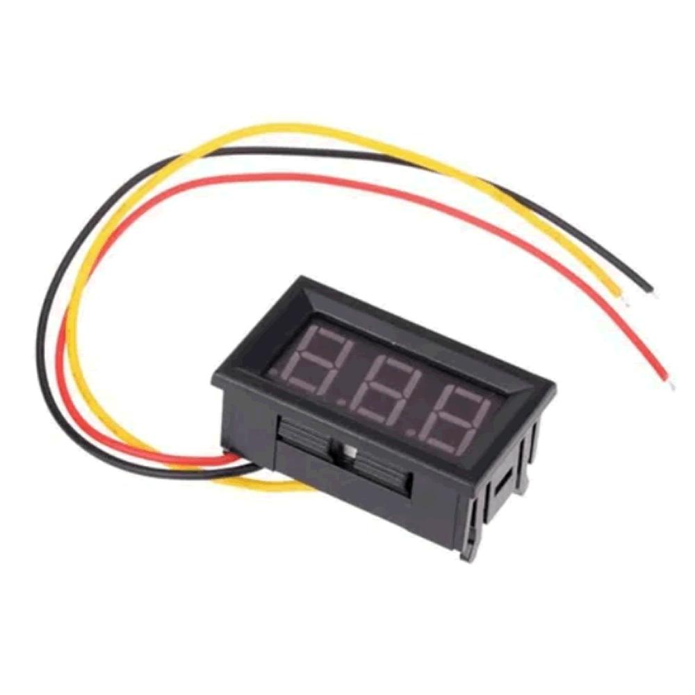Mini Voltímetro digital de LED dc 0v a 99.9v 0.5