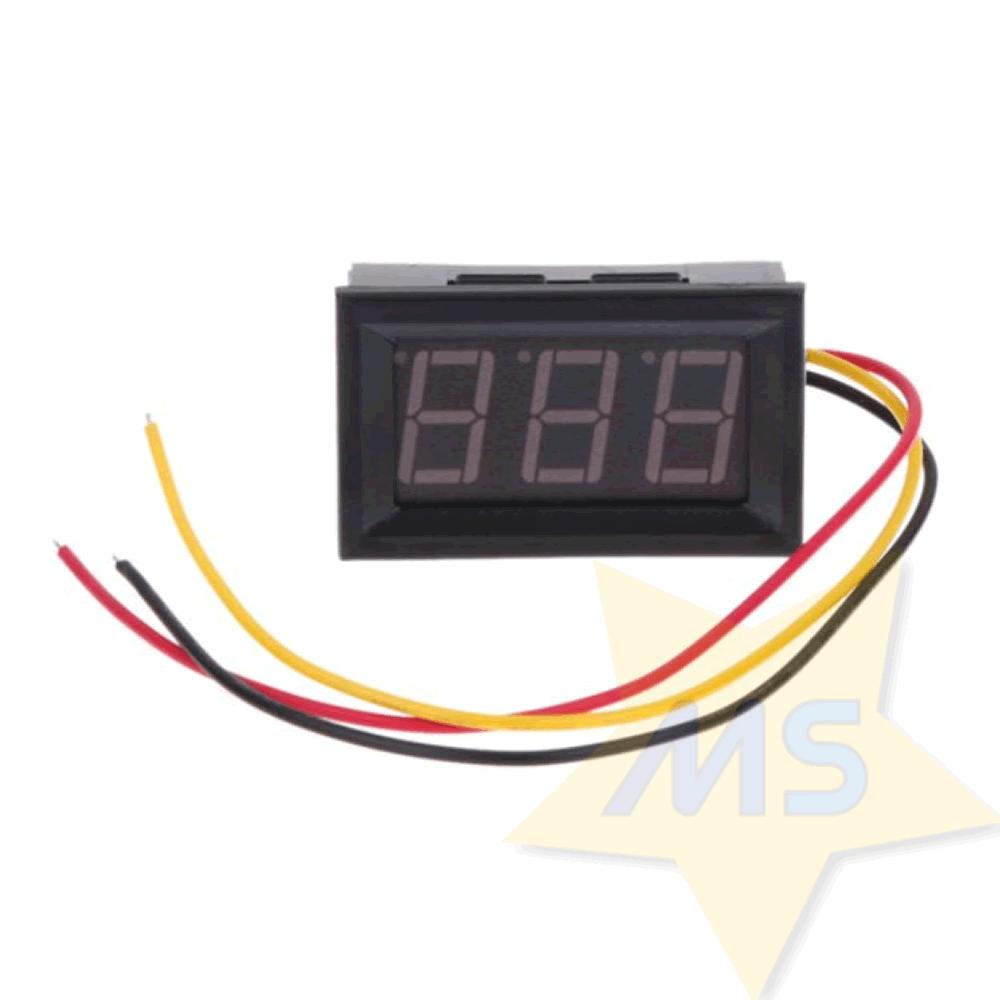 """Mini Voltímetro digital de LED dc 0v a 99.9v 0,5"""""""