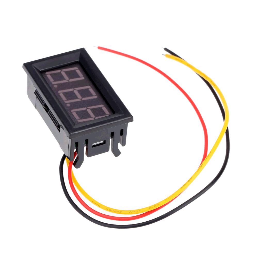 Mini Voltímetro digital de LED dc 0v a 99.9v 0.7
