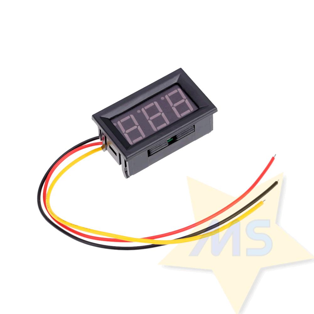 Mini-Voltímetro digital de LED dc 0v a 99.9v