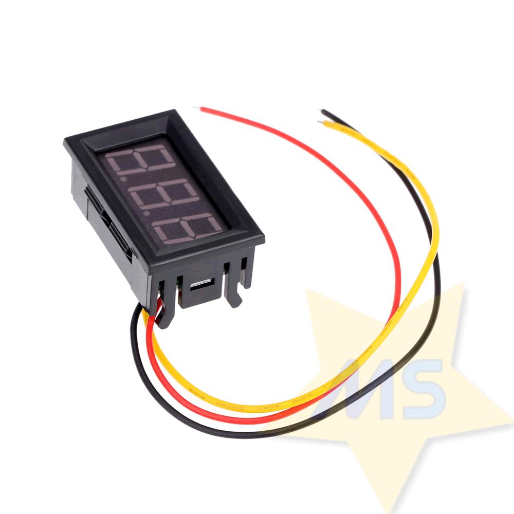 """Mini Voltímetro digital de LED dc 0v a 99.9v 0,7"""""""