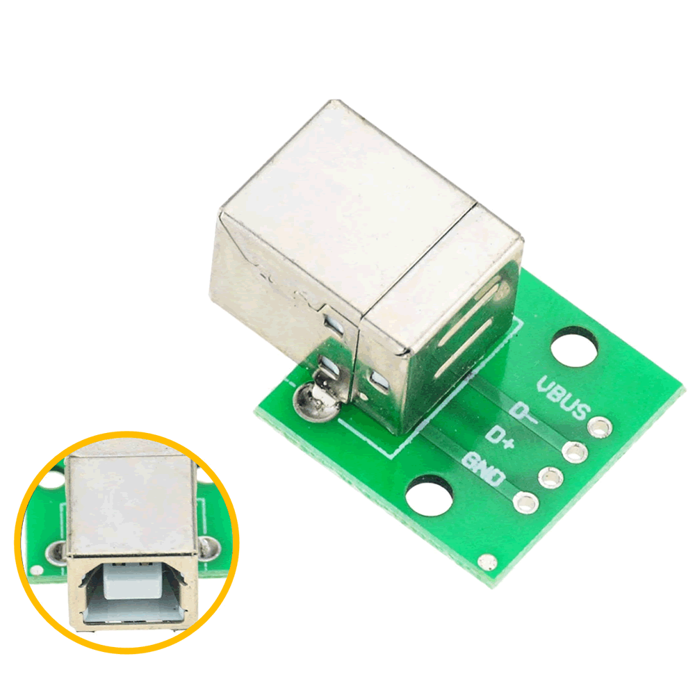 Módulo Adaptador Fêmea USB DIP tipo B