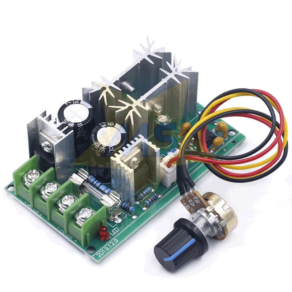 Módulo controlador PWM 20A com Potenciômetro DC