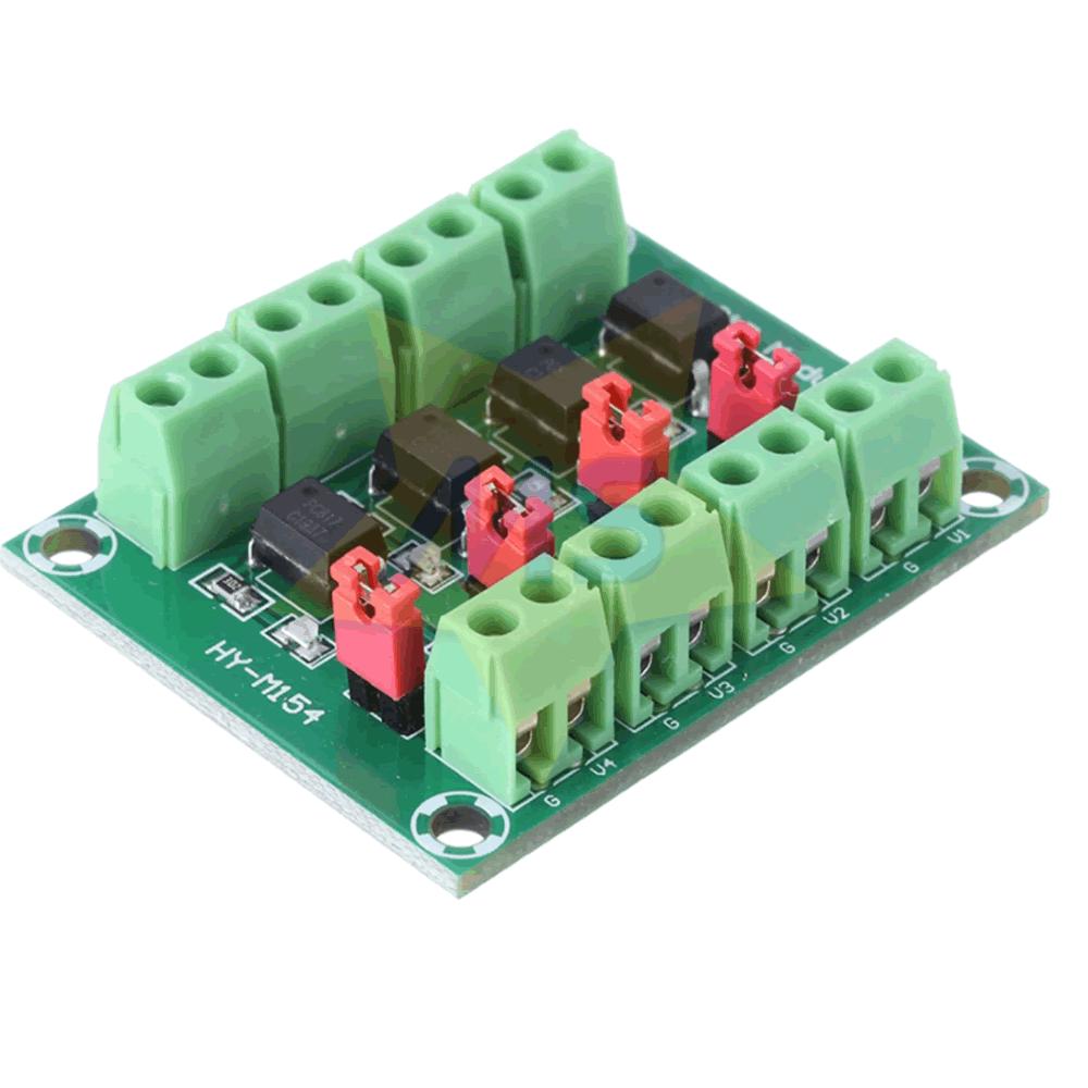 Módulo de acionamento com optoacoplador 4 canais