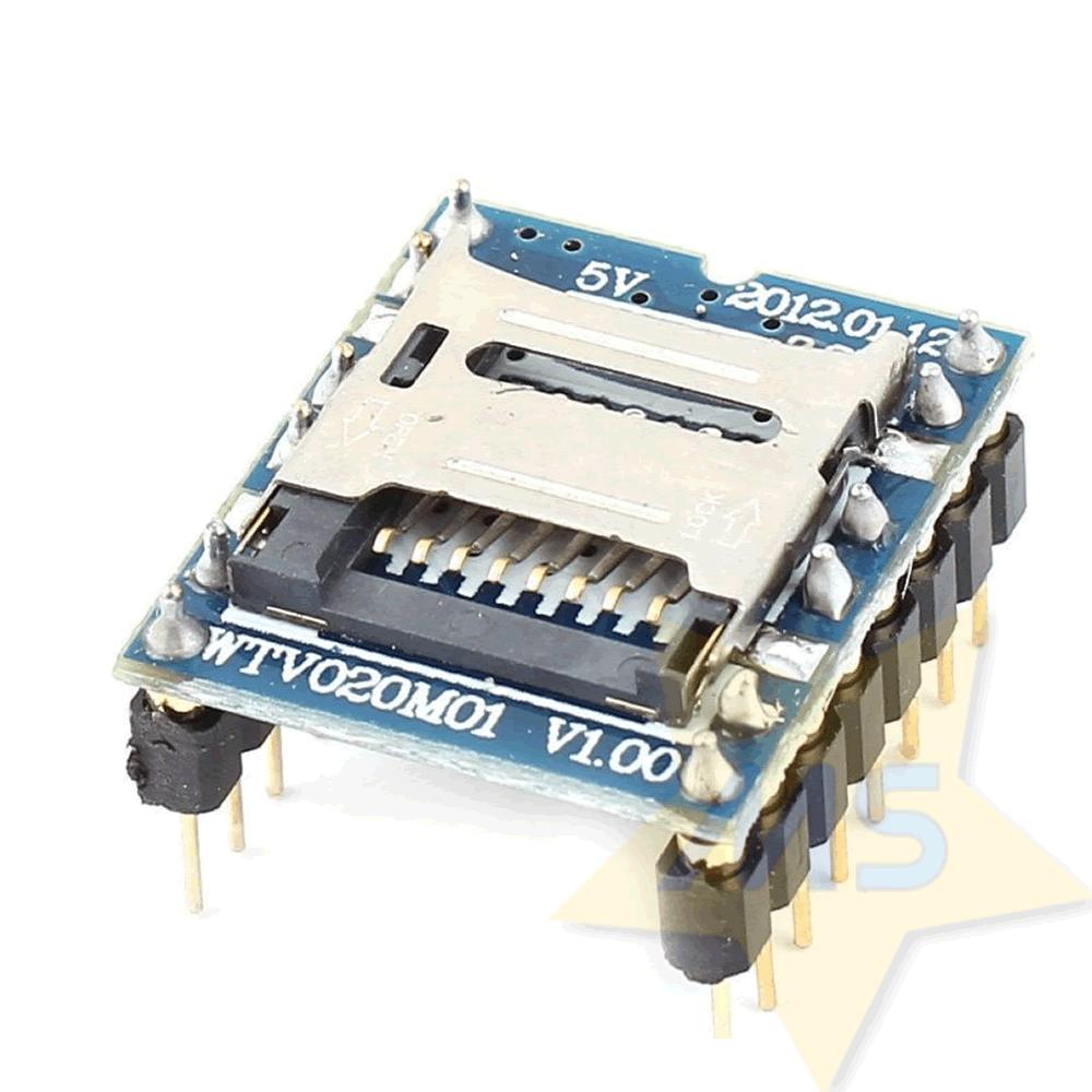 Módulo MP3 de voz WTV020-SD