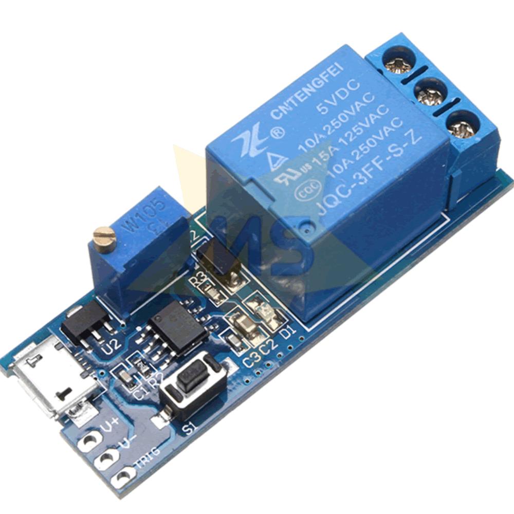 Modulo Rele Temporizador com Trigger Micro USB 5V