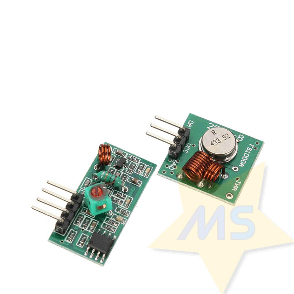 Módulo RF Transmissor + Receptor 433Mhz