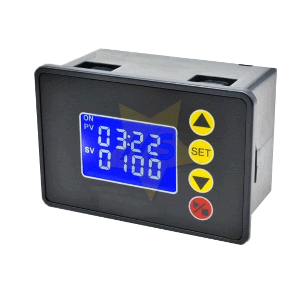 Módulo Temporizador Programável  12V 20A LCD 1.37