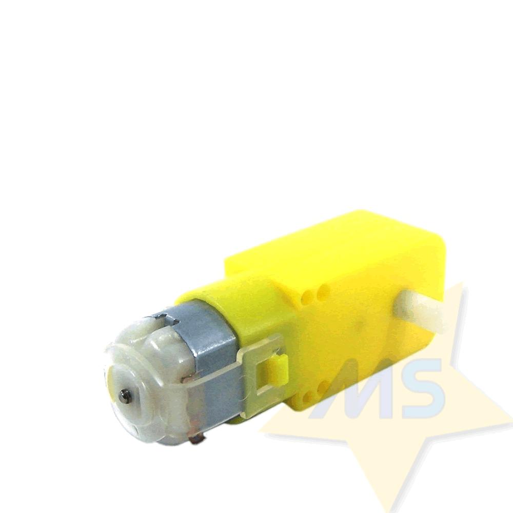 Motor DC com Caixa de Redução e Roda