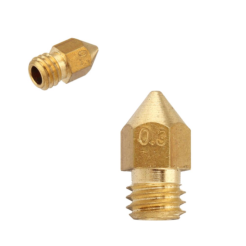 Nozzle Bico Hotend 1,75 M6 0,3mm para Impressora 3D