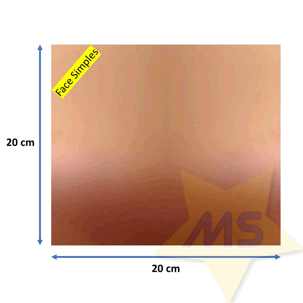 Placa de Fenolite face simples 20 X 20 cm