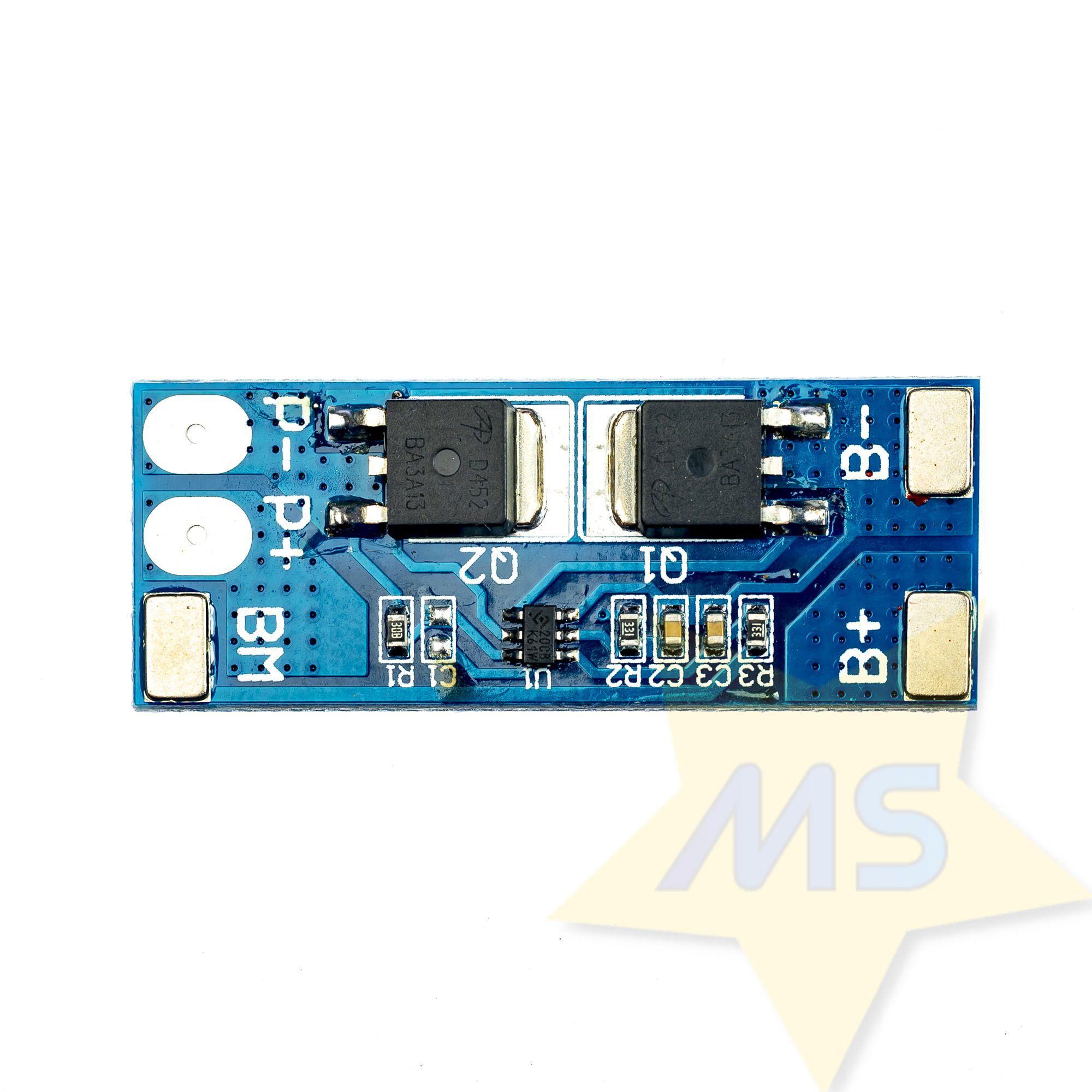 Placa de proteção de bateria 18650 BMS  2S 8A Li-ion 8,4V