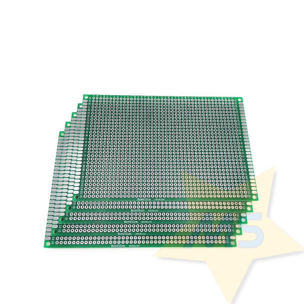 Placa universal  dupla face fibra vidro 8 x 12 cm