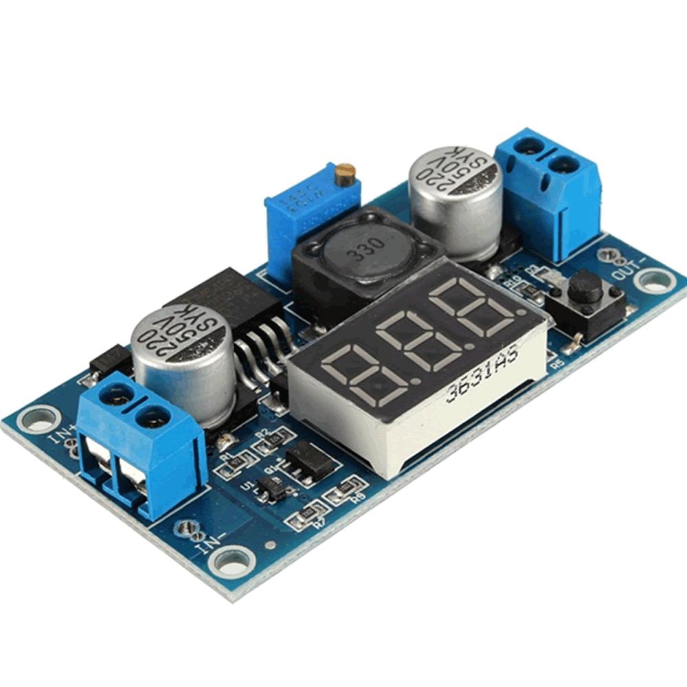 Regulador de Tensão LM2596 Step-Down com Display