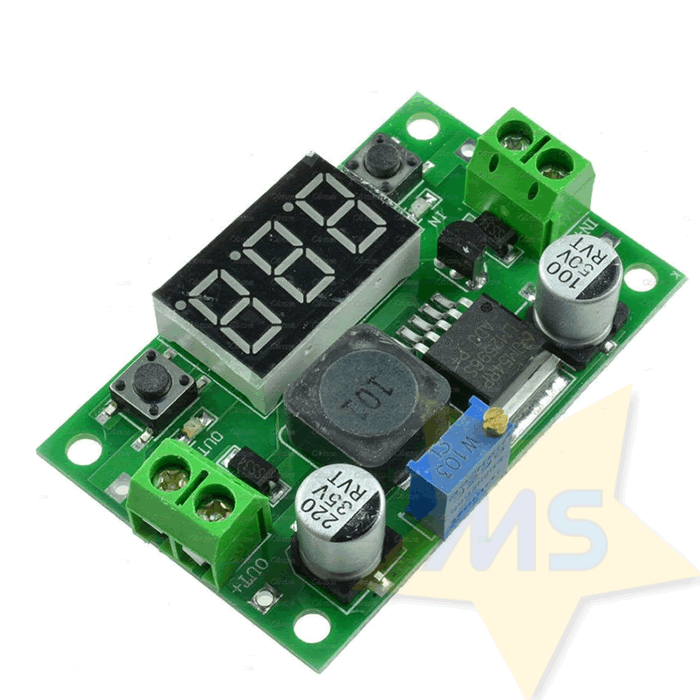 Regulador de Tensão LM2596 Step-Down com Display