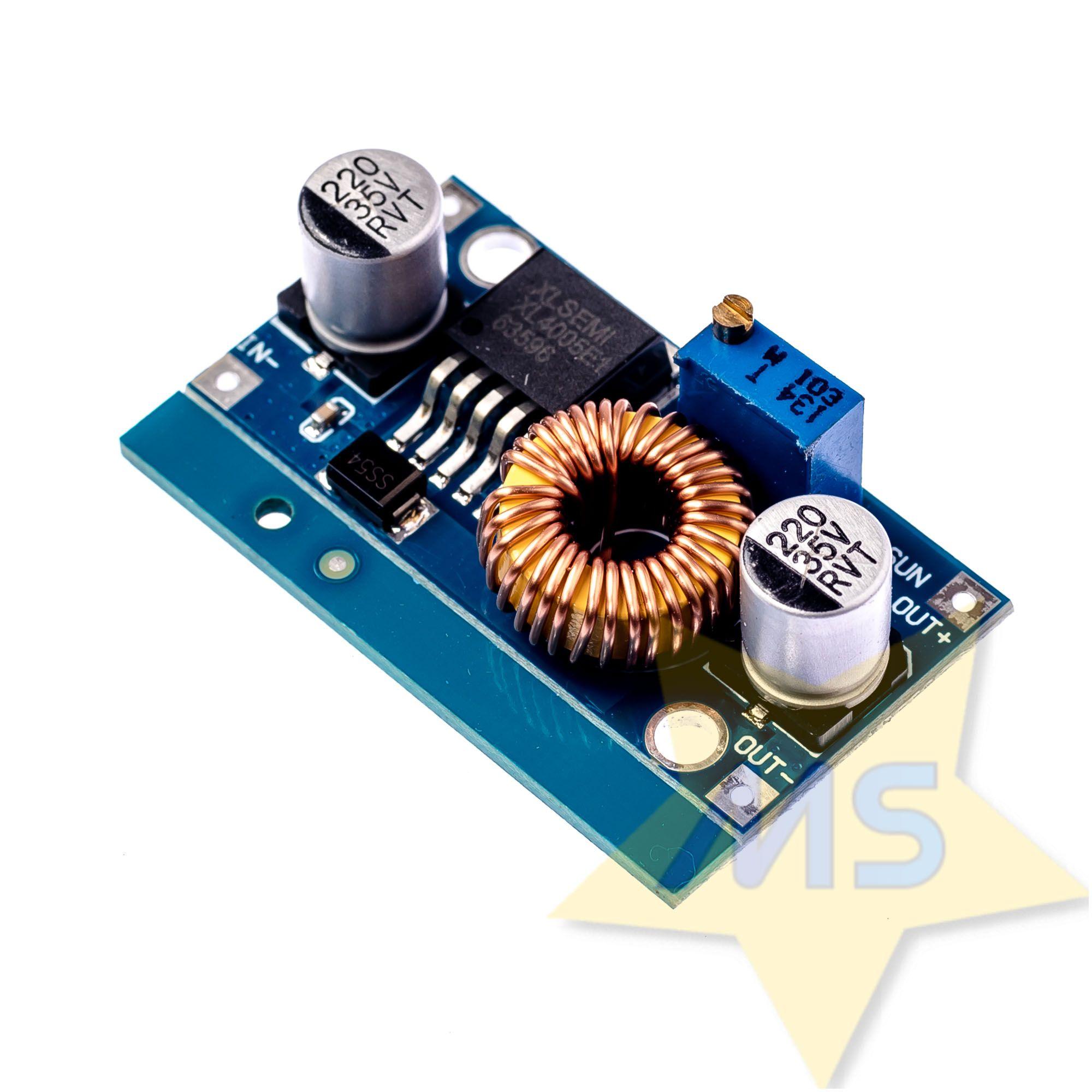 Regulador Tensão 5A 1,2v A 36V Step Down XL4005E  Buck Dc-dc