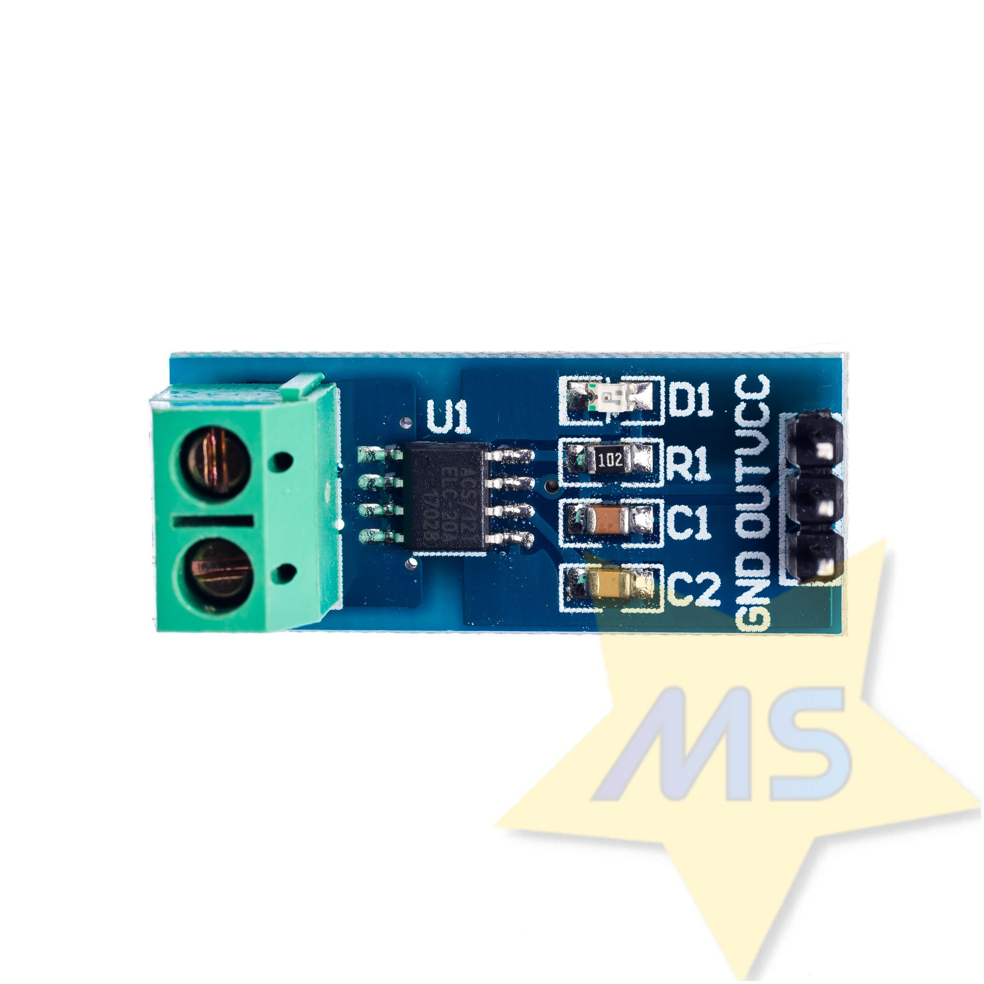 Sensor de Corrente ACS712 -20A a +20A