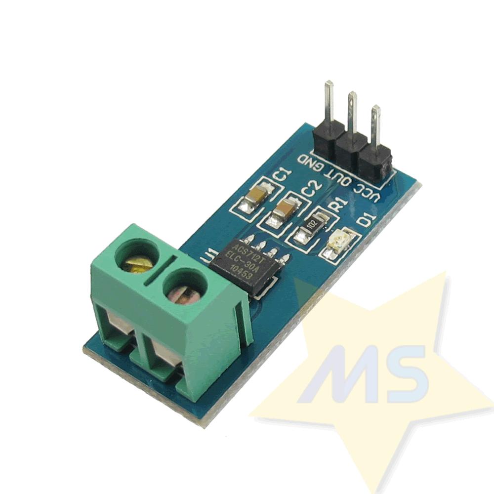 Sensor de Corrente ACS712 -30A a +30A