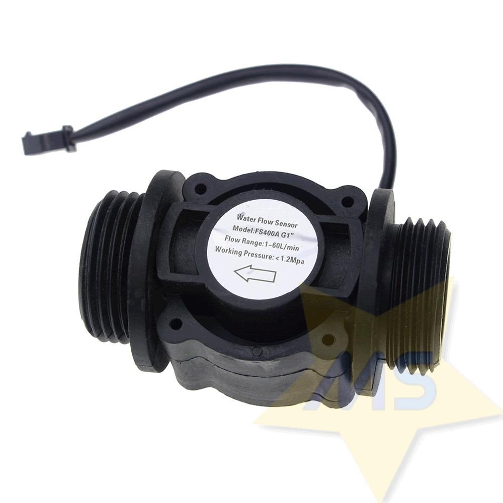 "Sensor de Fluxo de Água 1"" FS400A"