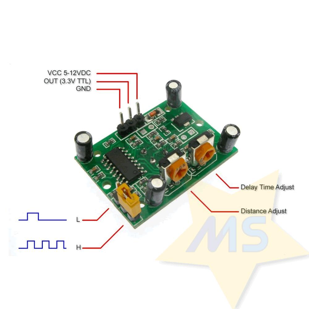 Sensor de movimento e presença PIR