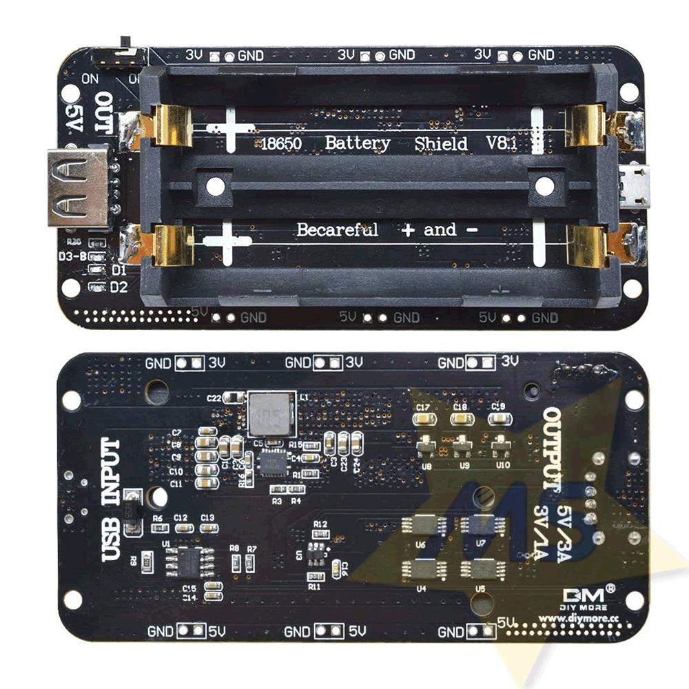 Shield Bateria 18650 V8  Para ESP Arduino