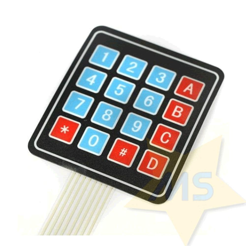 Teclado Matricial de Membrana 4x4