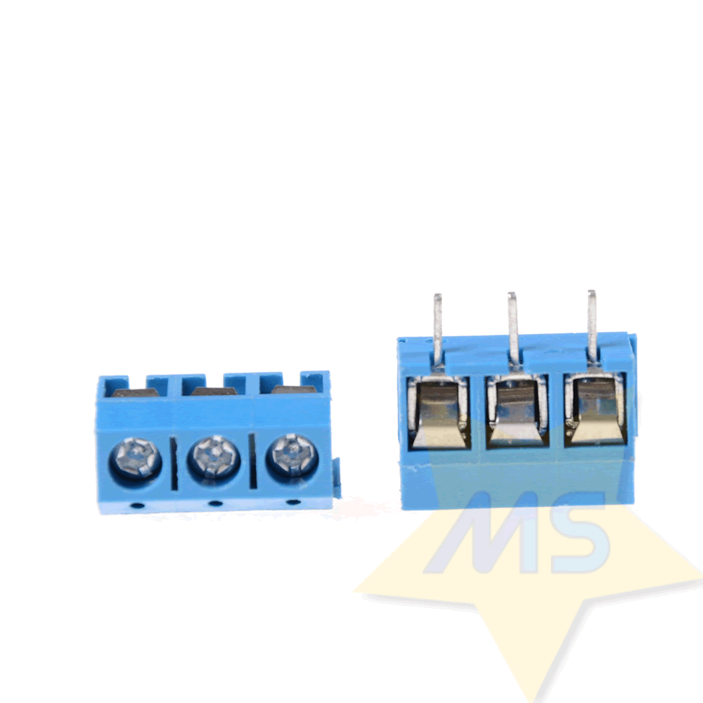 Conector Borne 3 Pinos 5.0 mm para PCB