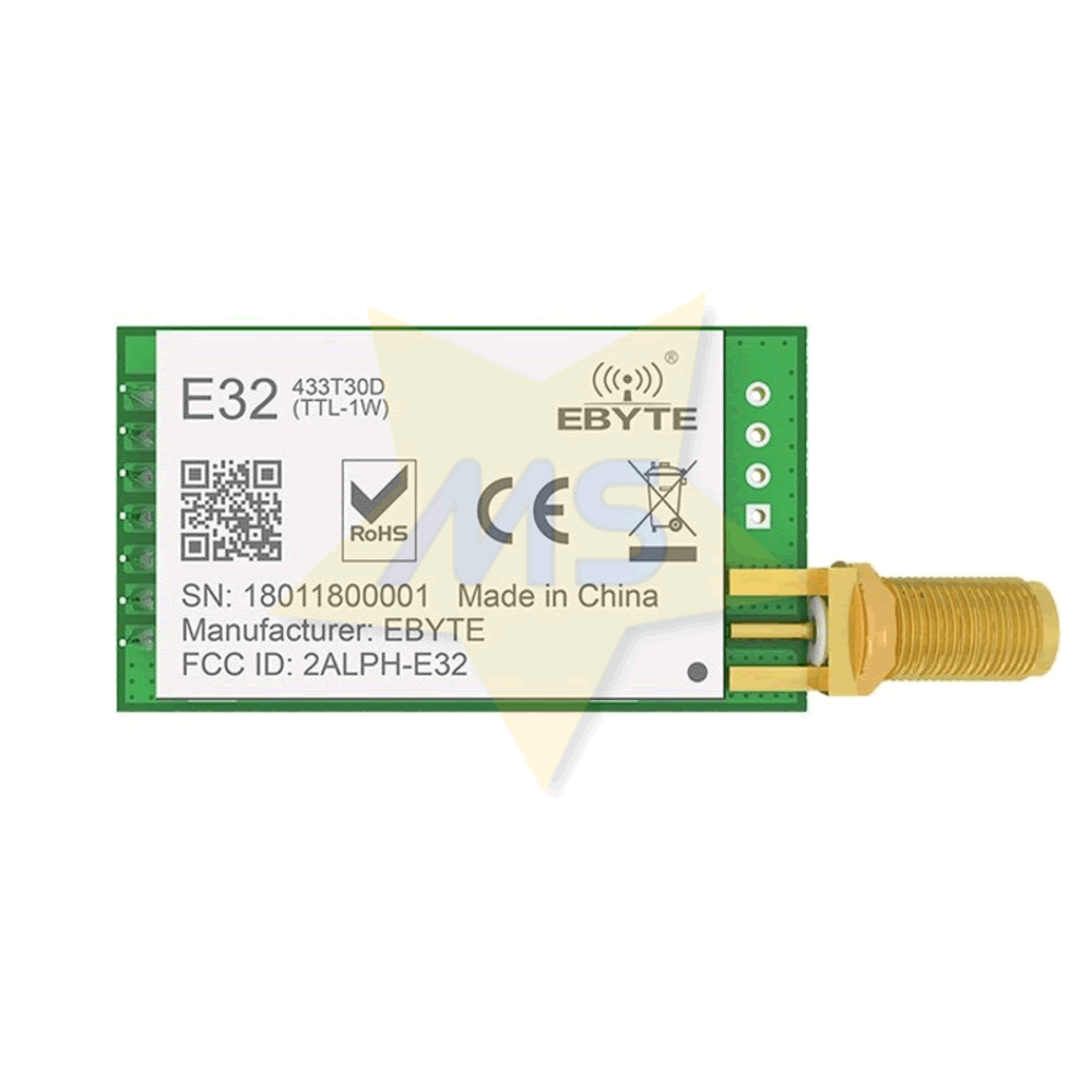 Transceptor LoRa E32 433T30D 433MHz 1W  8Km