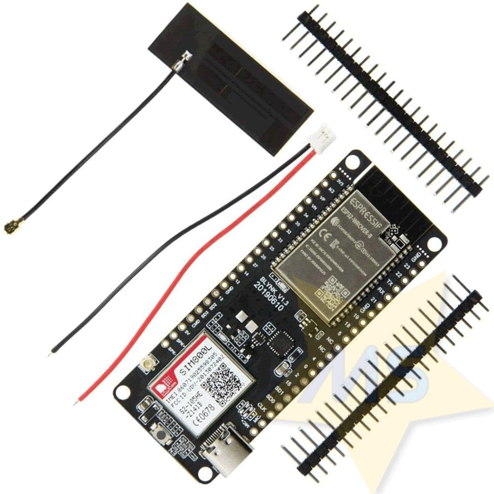 TTGO T-Call ESP32 com SIM800L GPRS Antena SIM Card