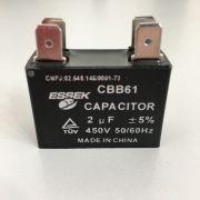 Capacitador 02,0MFD 450V Com Terminal