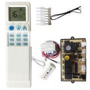 Kit Controle Remoto + Placa Universal Split Hi Wall QD-U02B