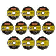 "Kit com 10 Disco Corte Fino Aço Inox 4.1/2"" x 1.0mm x 7/8"" Thompson"
