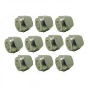 """Porca Flange 3/4"""" em Alumínio Kit Com 10 Unidades"""