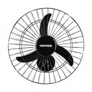 Ventilador de Parede New Aço Premium 50cm Preto 127v/220v Ventisol