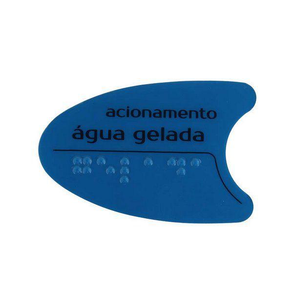 Adesivo Azul Tecla Frontal BDF PDF SMART H2O IBBL