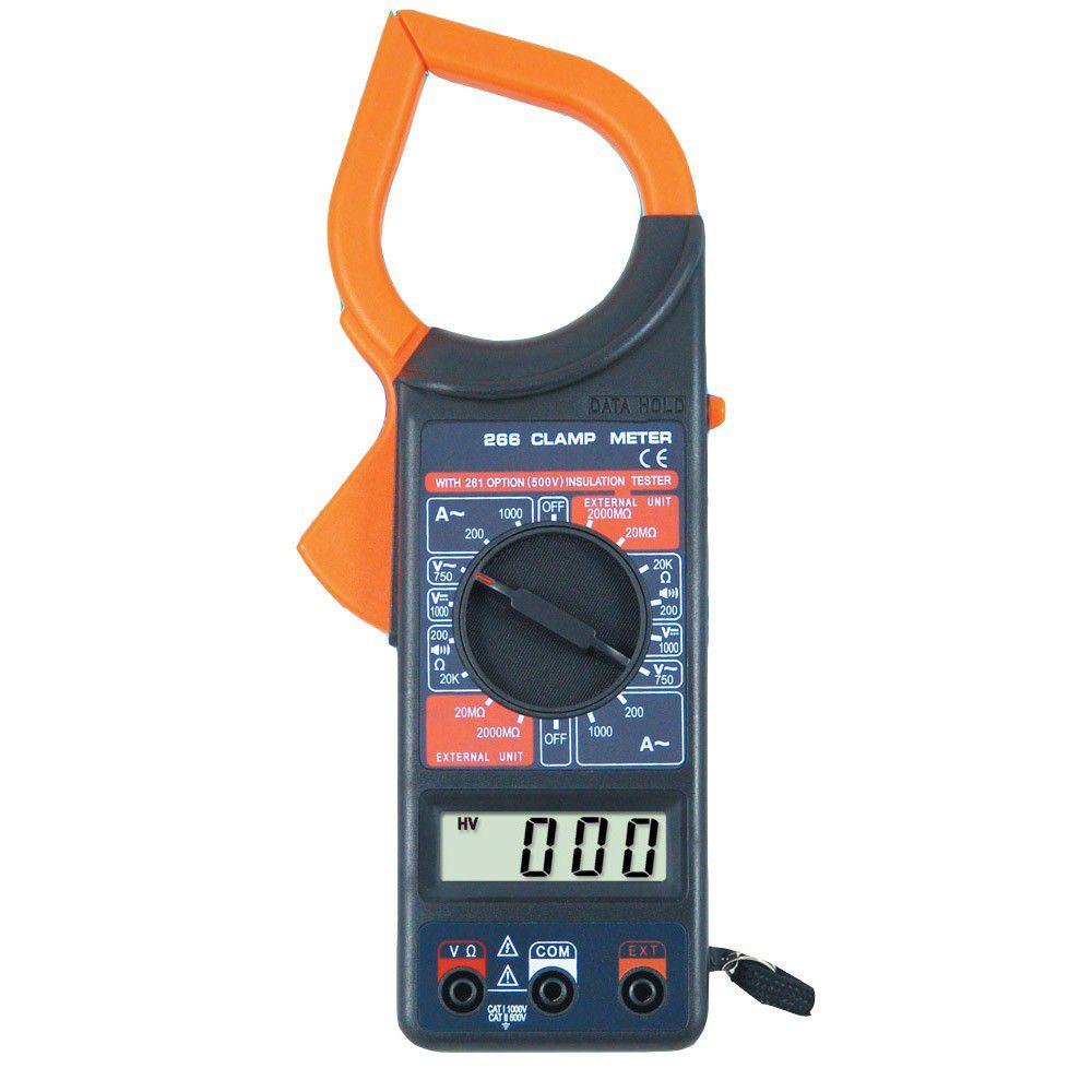 Alicate Amperímetro Digital Com Estojo e Ponta de Prova EOS-DT266