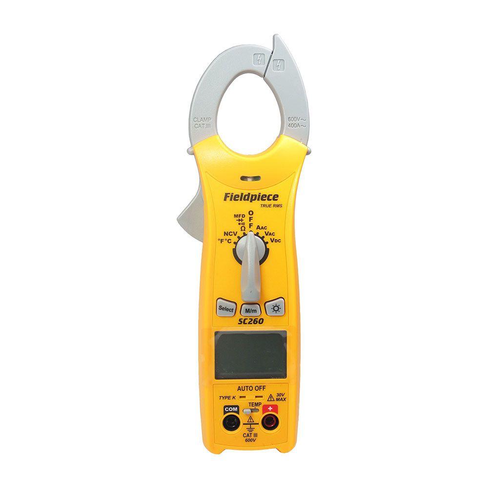Alicate Amperímetro Multímetro Capacímetro True RMS Fieldpiece SC260
