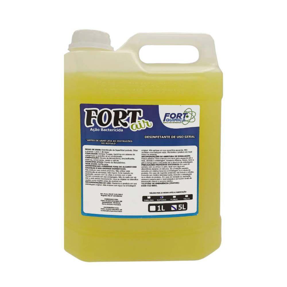 Bactericida Aromatizante Fort Air Limpeza Ar Condicionado 5 Litros
