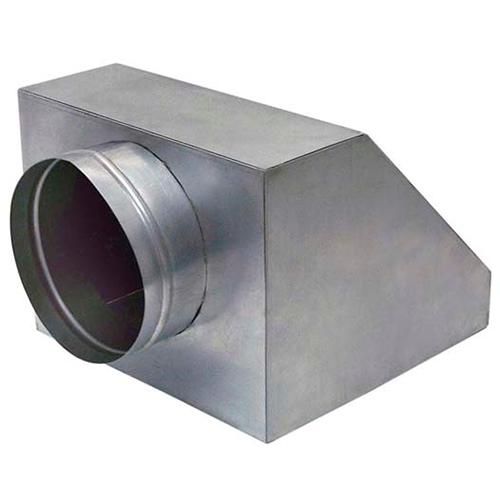"""Caixa Plenum para Duto Flexível TAM 3 Colarinho 6"""" 150mm"""