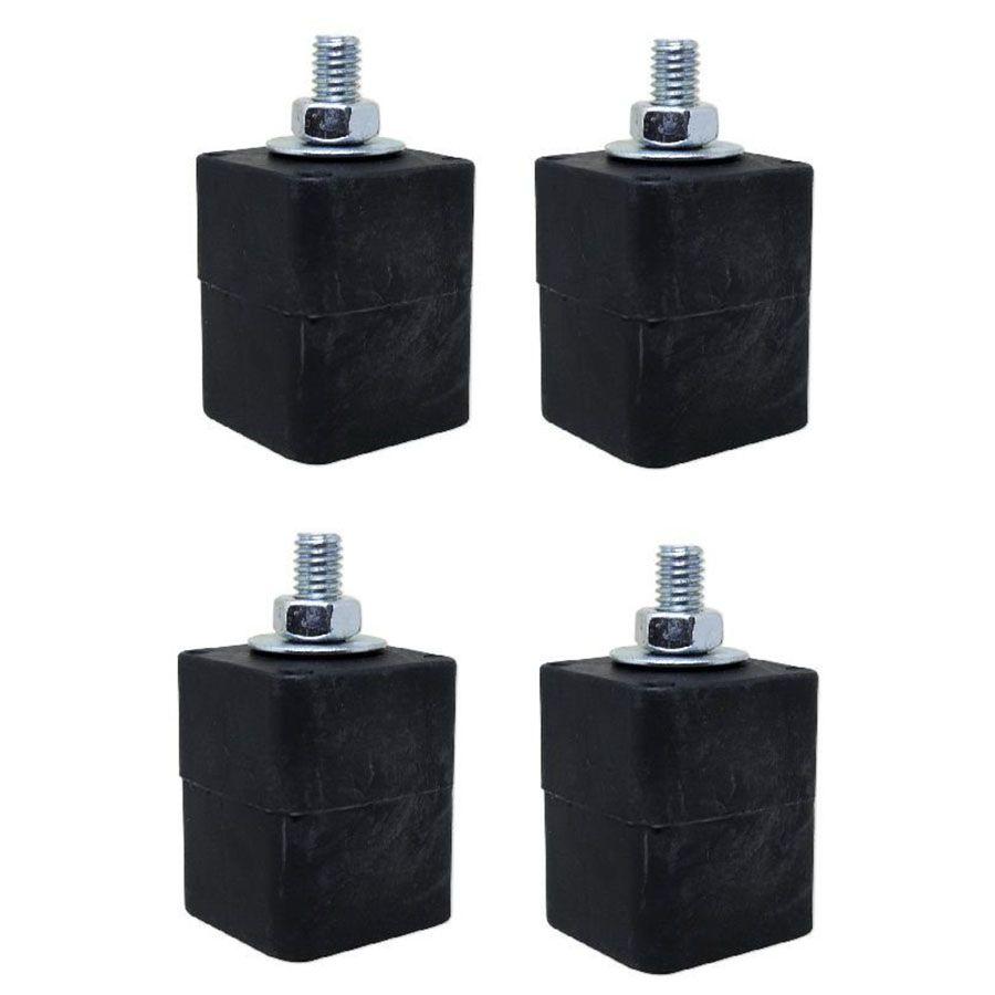 Calço de Borracha Mini Para Condensadora Kit com 4 unidades