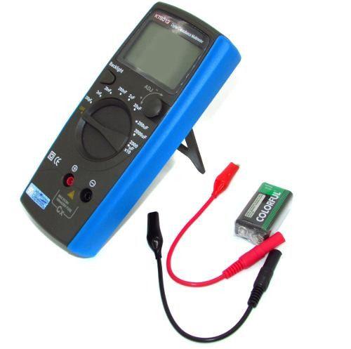 Capacímetro Digital EOS KT6013 Mede Capacitor 200pf a 20.000uF