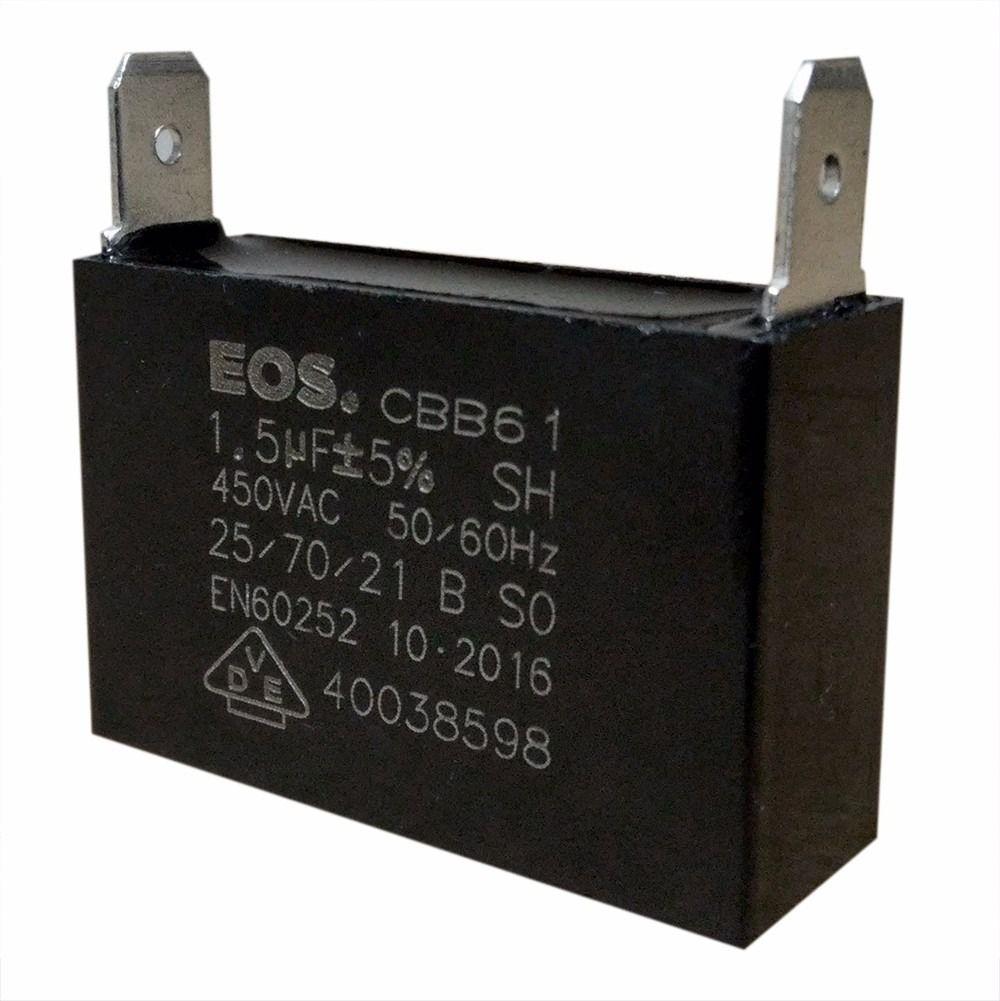 Capacitor 1,5uf +-5% 380vac Com Terminal Ar Condicionado