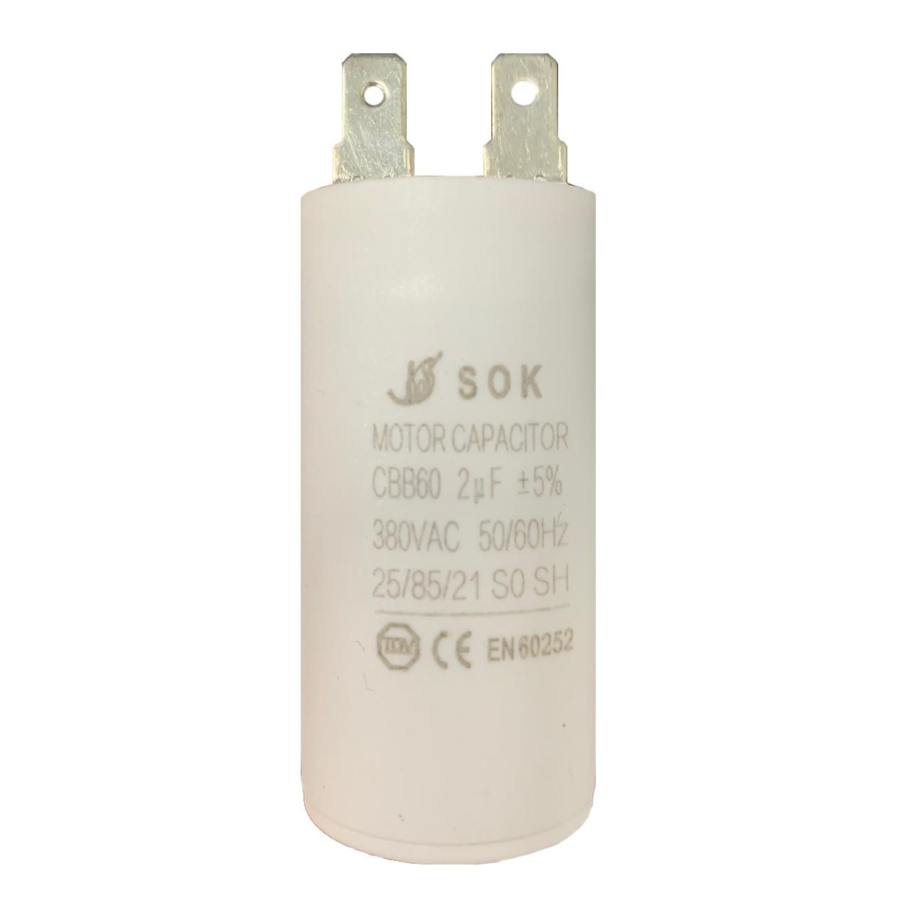 Capacitor 2uf +-5% MFD 380V 50/60Hz