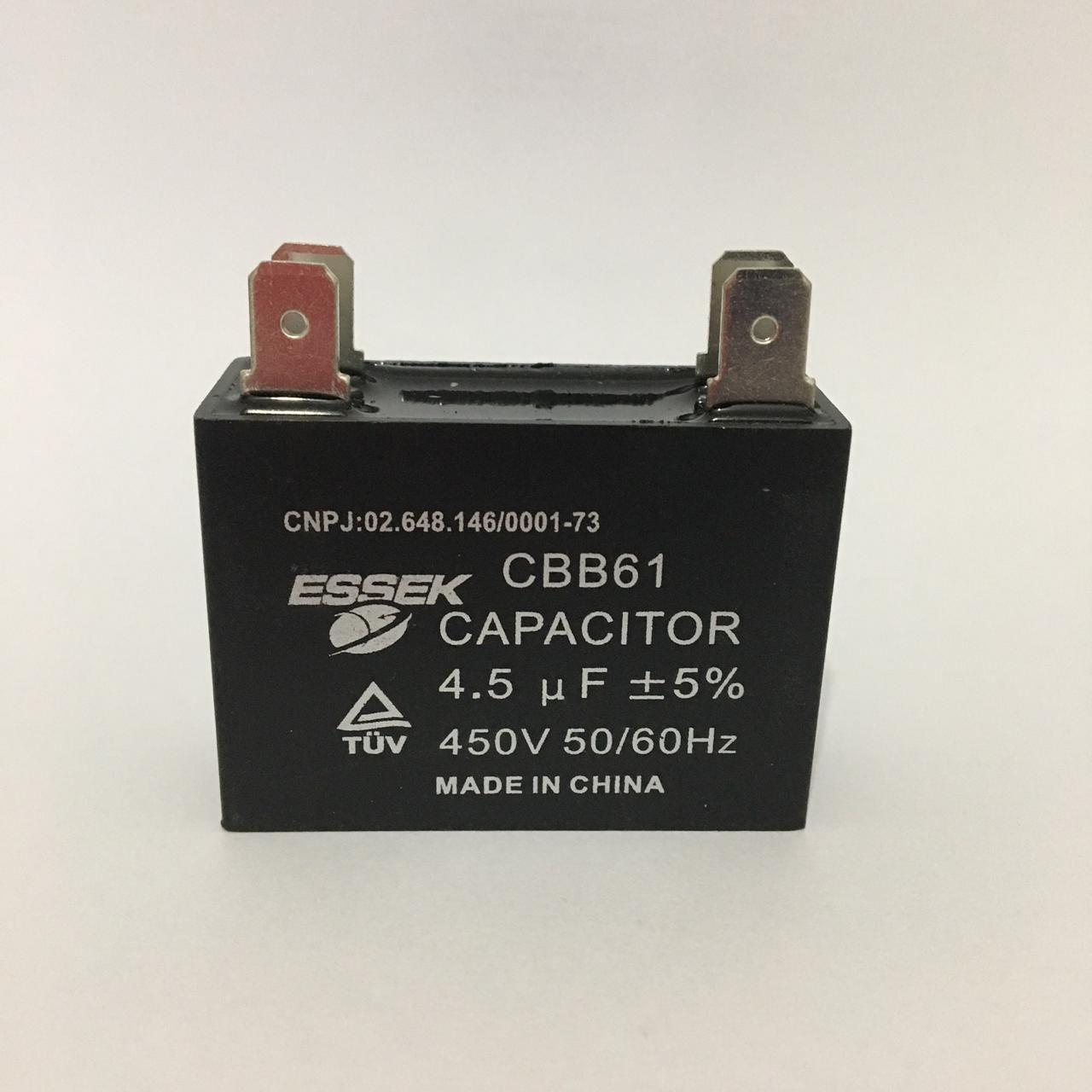 Capacitor 4.5uf +-5% 450vac Com Terminal Ar Condicionado