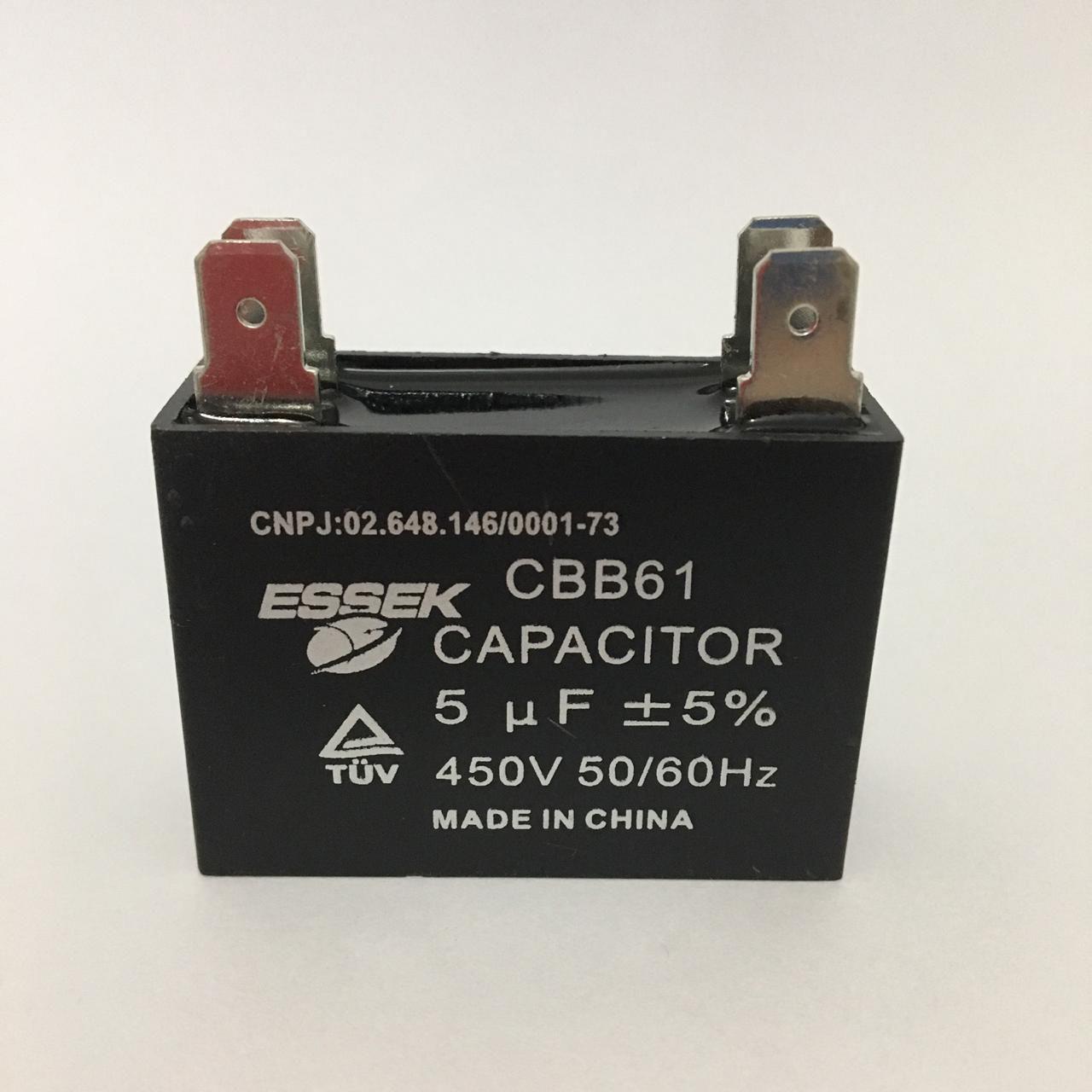 Capacitor 5uf +-5% 450vac Com Terminal Ar Condicionado