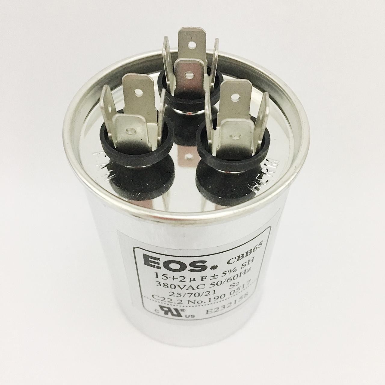 Capacitor 15+2 MFD 380V 50/60Hz