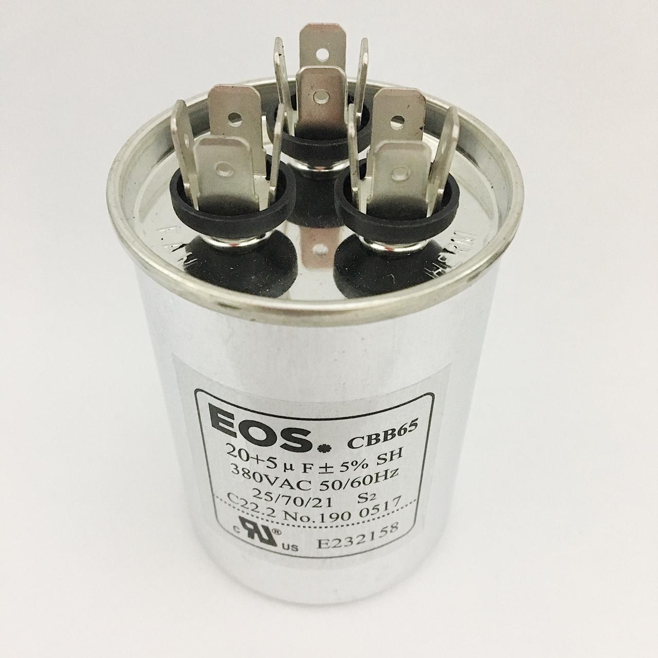 Capacitor 20+5 MFD 380V 50/60Hz