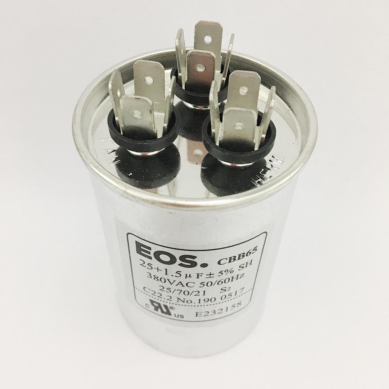 Capacitor 25+1.5 MFD 380V 50/60Hz