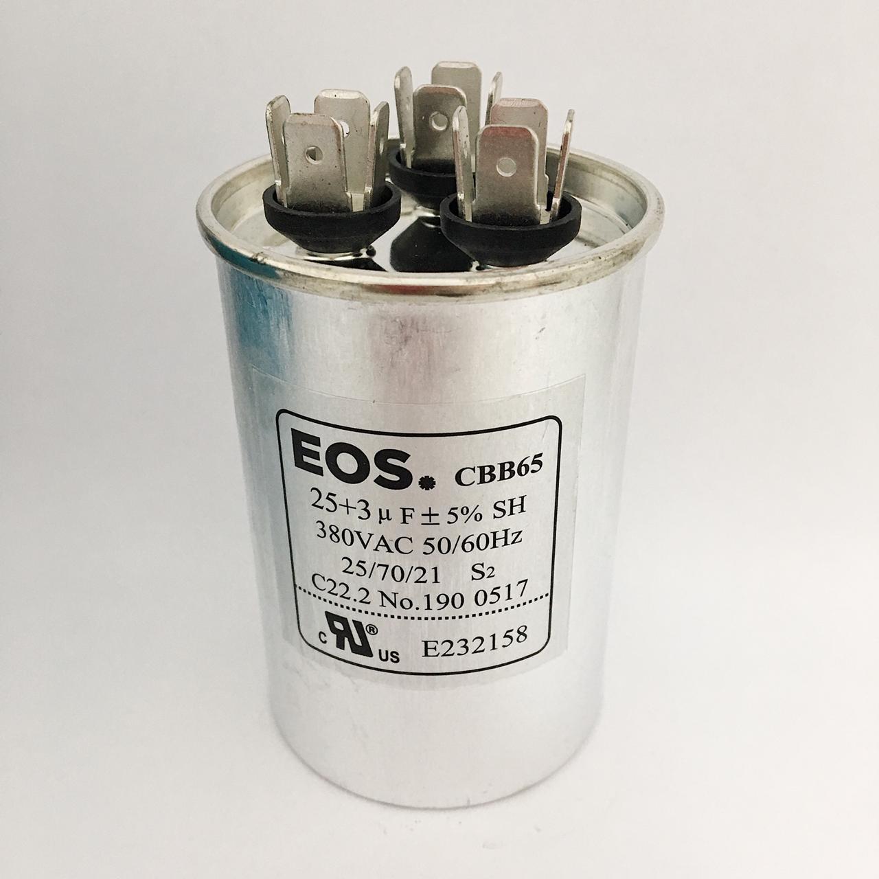 Capacitor 25+3 MFD 380V 50/60HZ
