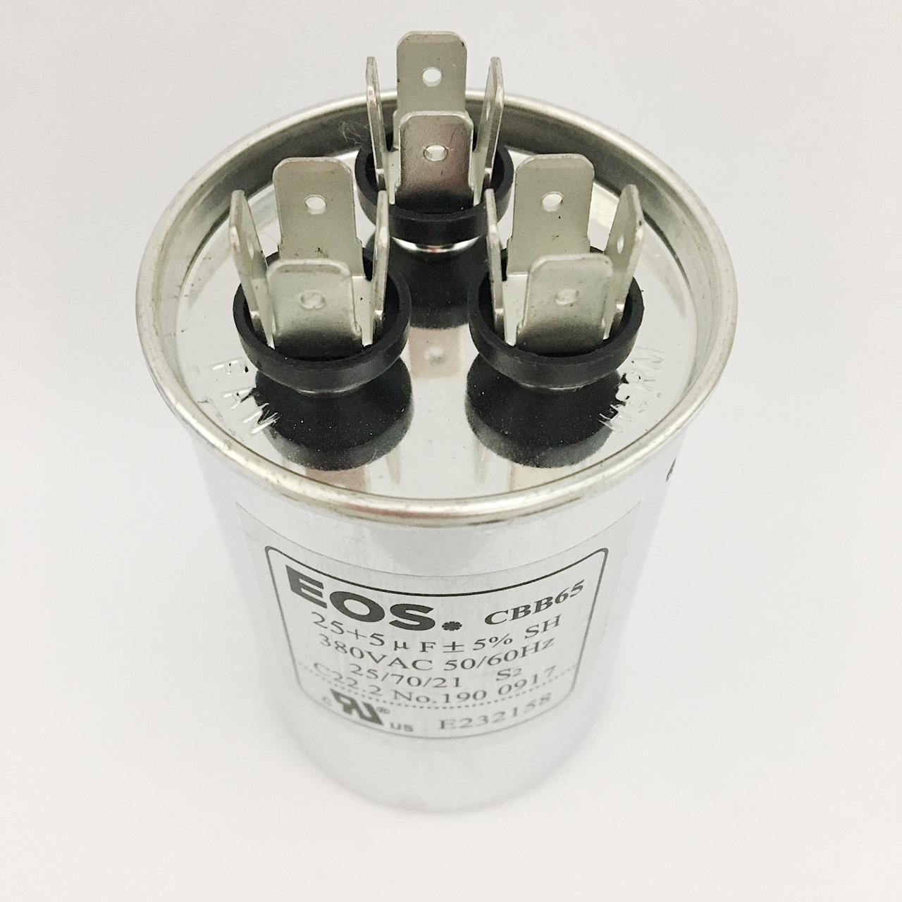 Capacitor 25+5 MFD 380V 50/60Hz
